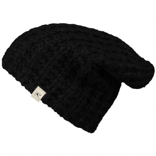 O'NEILL WOMENS BEANIE HAT.NEW RELAX LOOSE BAGGY BLACK WINTER KNITTED 7W 117 9010